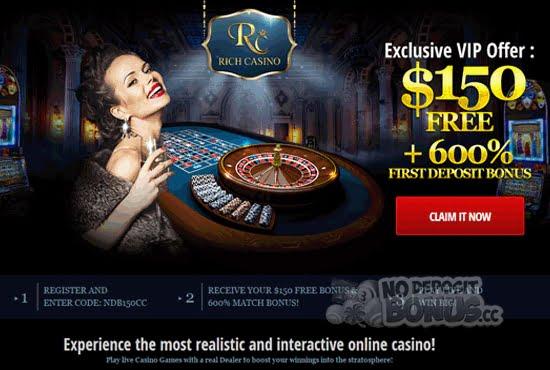 $150 no deposit casino bonus
