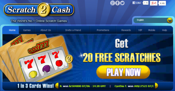 Scratch Cards Free Bonus No Deposit
