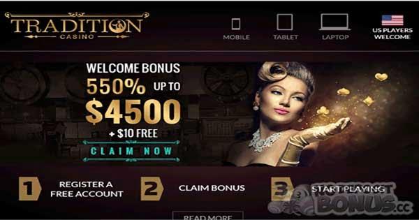 Tradition Casino No Deposit Bonus