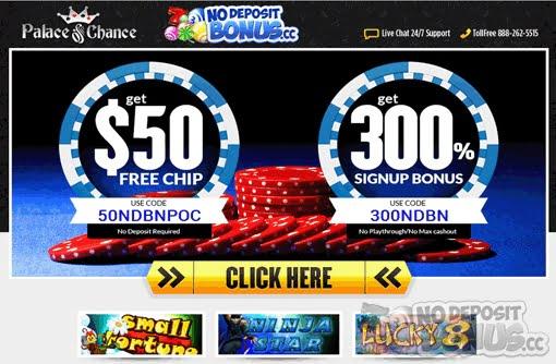 Palace Of Chance No Deposit Bonus