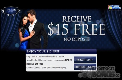 15 No Deposit Bonus Plus 100 Daily Freerolls At Lincoln Casino