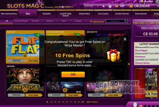 Slots Magic No Deposit Bonus