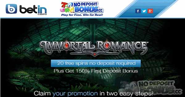20 Free Spins at Betin Casino   No Deposit Bonus