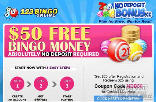 No deposit money bingo gambling terms dime