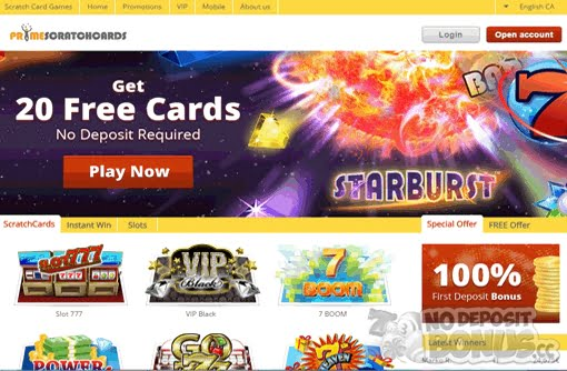 Free Bonus No Deposit Scratch Cards