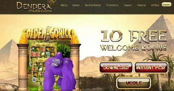 Dendera Casino No Deposit Bonus