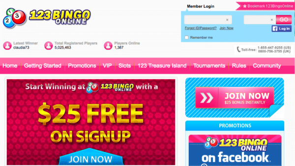 $50 No Deposit Bonus at 123 Bingo   No Deposit Bonus :No Deposit Bonus