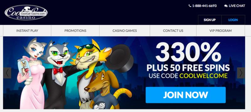 100 No Deposit Bonus At Cool Cat Casino No Deposit Bonus