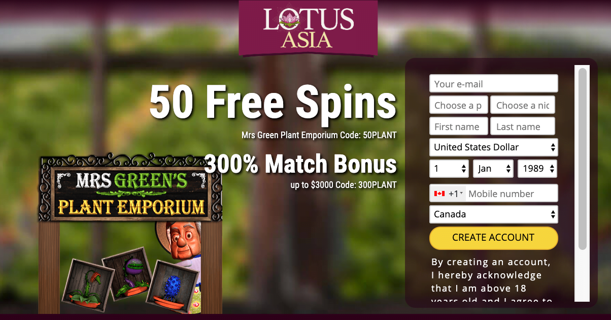 Lotus Asia Casino No Deposit