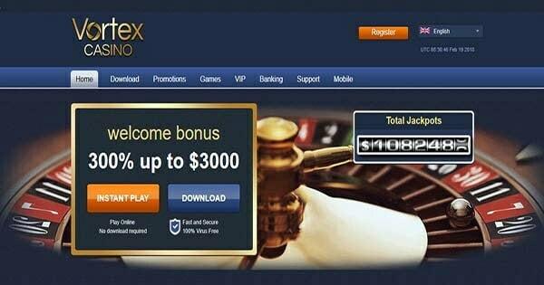 vortex casino no deposit bonus