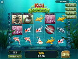 Koi Garden online slot screenshot