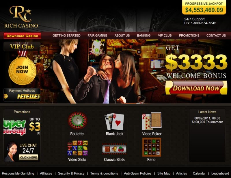 Rich Casino No Deposit Bonus