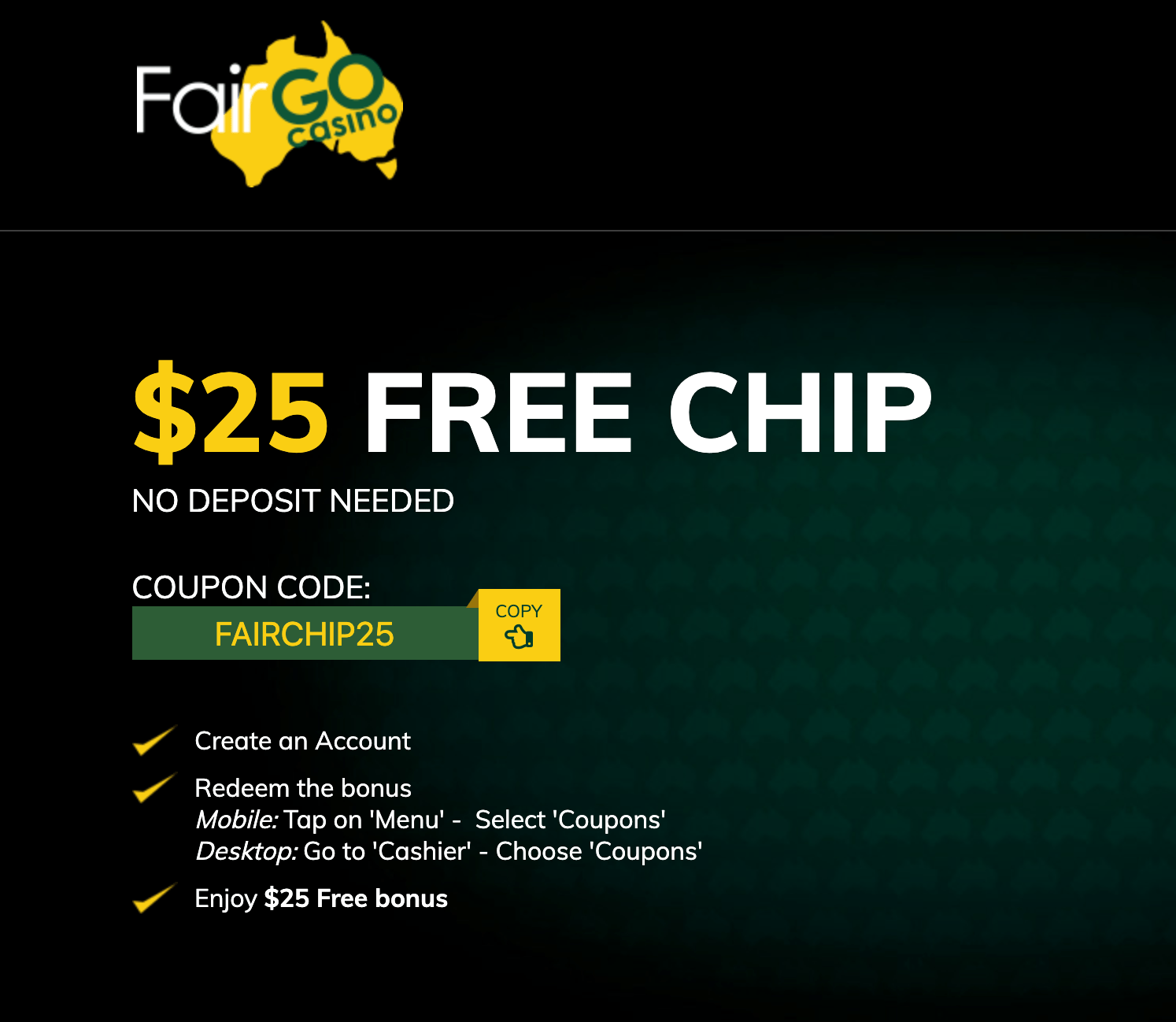 Fair Go Casino No Deposit 2020