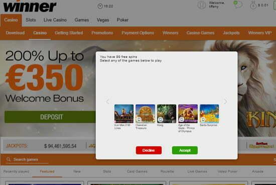 Winner casino no deposit bonus codes