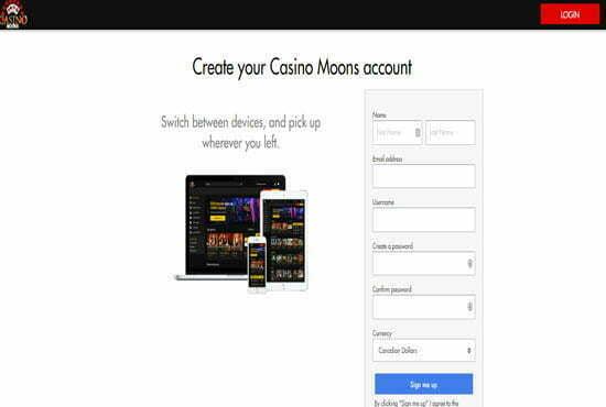 Casino moons online login site
