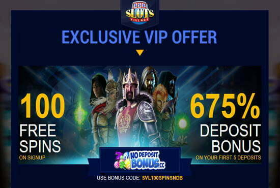 100 Free Spins At Slots Village No Deposit Bonus