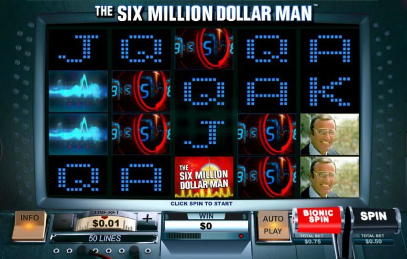 The Six Million Dollar Man Slot Machine