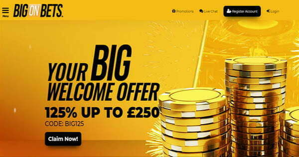10 No Deposit Bonus at Big On Bets | No Deposit Bonus