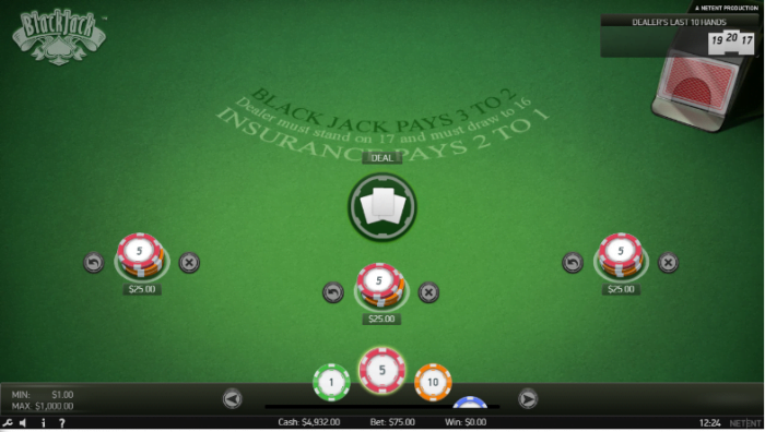 NetEnt Live Releases New Mobile Standard Blackjack Game