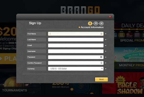 Brango No Deposit Bonus