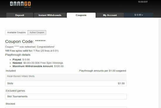 100 Free Spins At Brango No Deposit Bonus