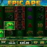 epic ape no deposit slot review screenshot