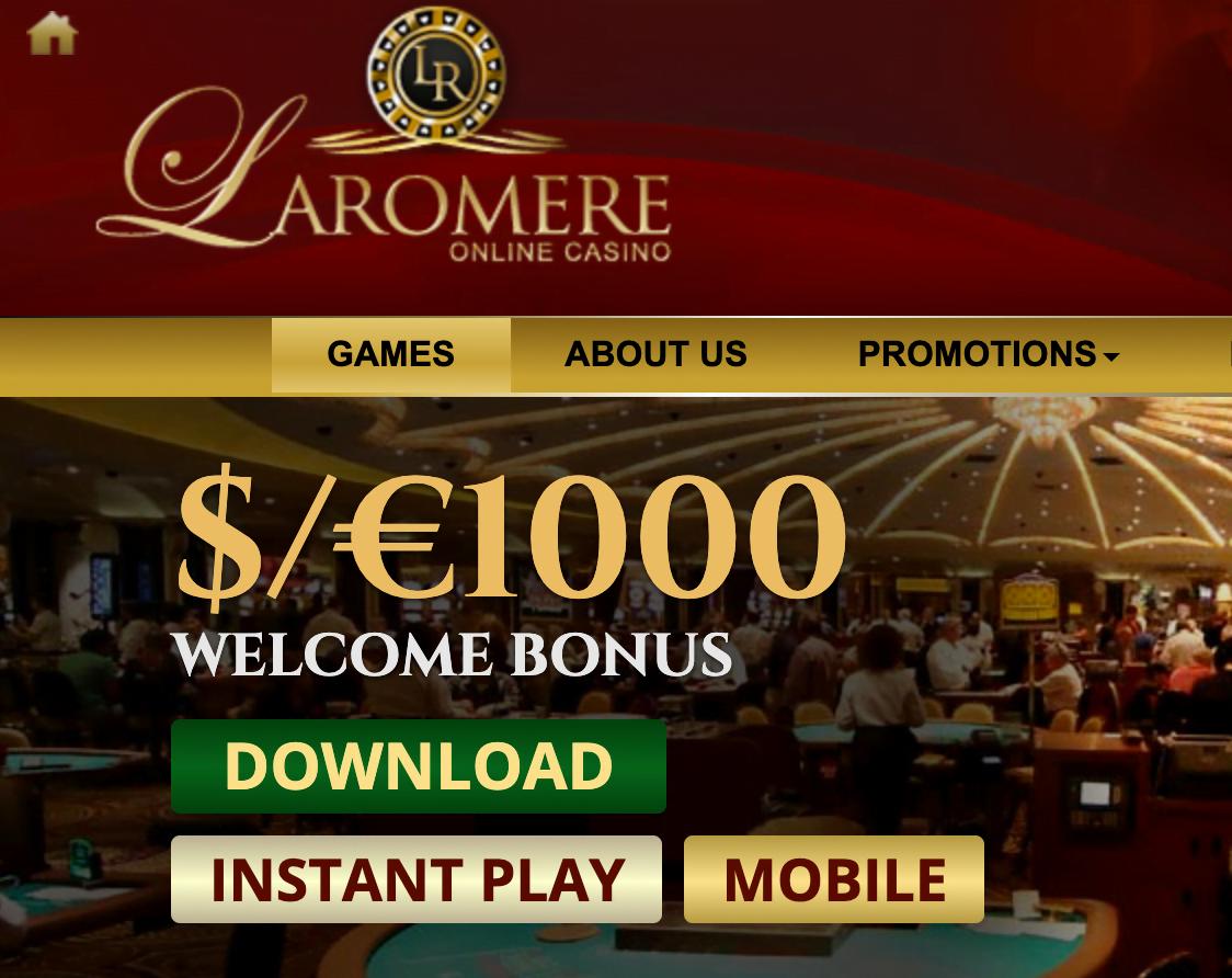 Laromere Casino Bonus Code