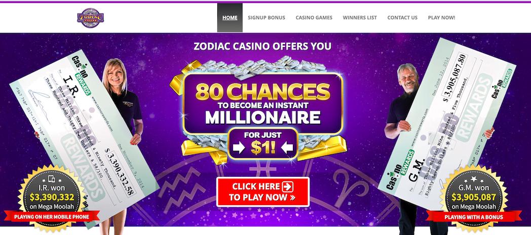 Zodiac Casino No Deposit Bonus