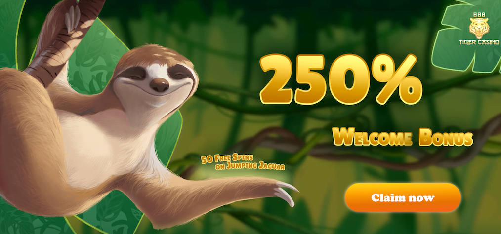 250 Bonus 50 Extra Spins At 888 Tiger Casino No Deposit Bonus