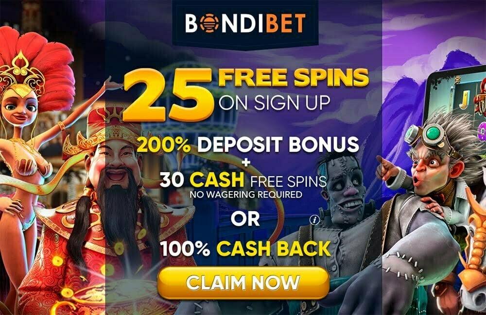25 Free Spins At Bondibet No Deposit Bonus